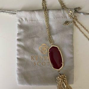 Kendra Scott Maroon Rayne Necklace